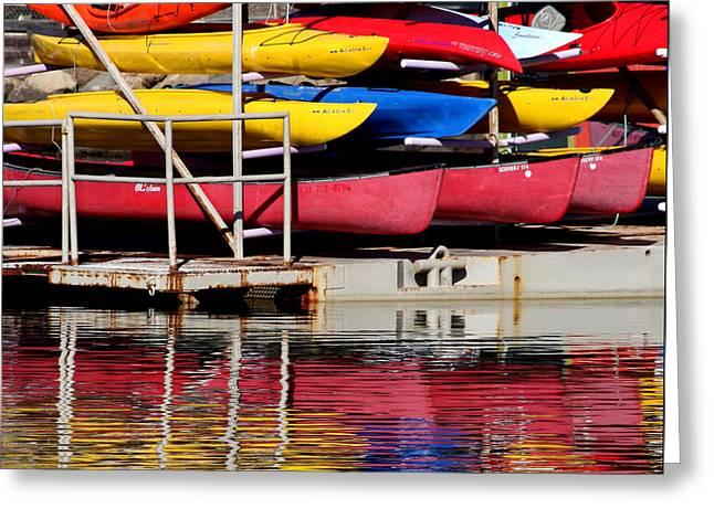 Kayak Reflections Greeting Card