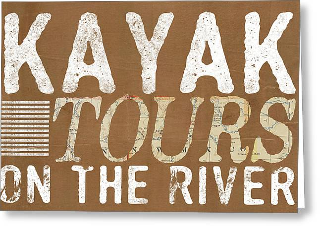 Kayak Tours Greeting Card