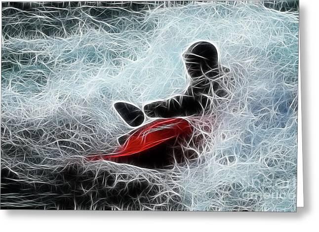 Kayaker 2 Greeting Card by Bob Christopher