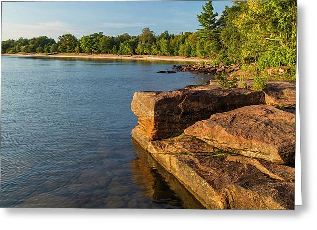 Kayakers At Campsites On York Island Greeting Card by Chuck Haney