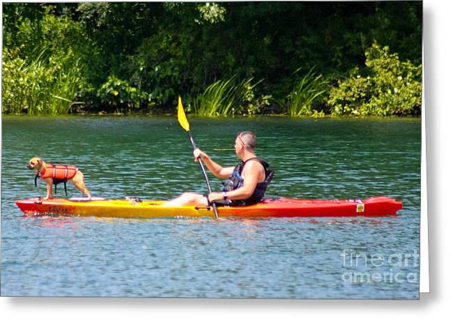 Kayaking Buddies Greeting Card