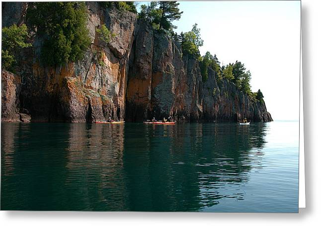 Greeting Card featuring the photograph Kayaking By Shovel Point by Sandra Updyke