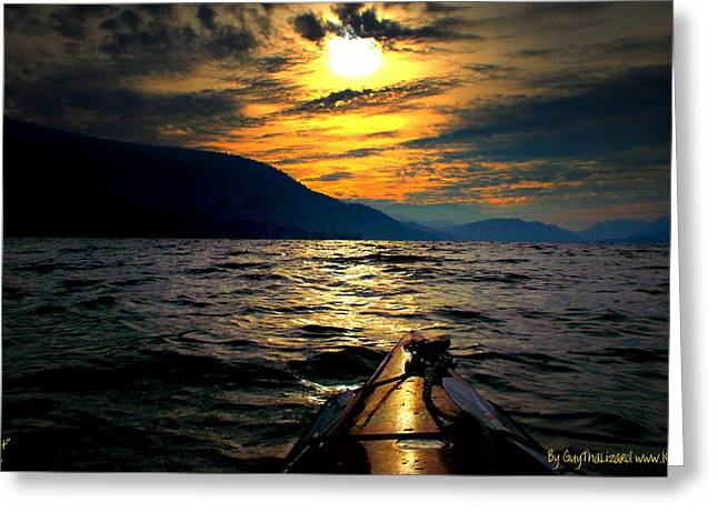 Kayaking Greeting Card by Guy Hoffman