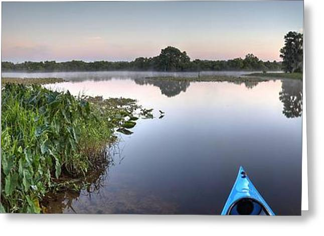 Kayaking In Florida Greeting Card