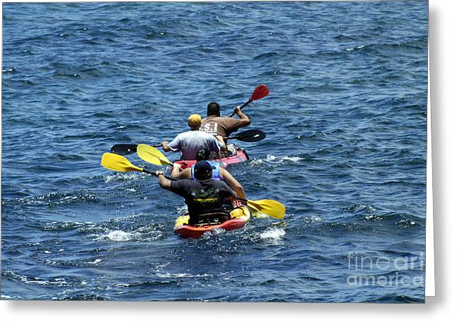 Kayaking In Hawaii  Greeting Card