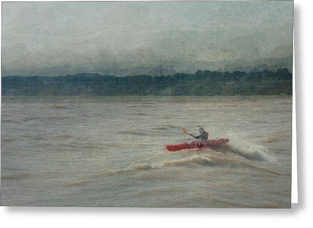 Kayaking In Port Dover Greeting Card