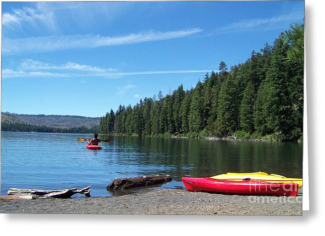 Kayaking On Suttle Lake Greeting Card