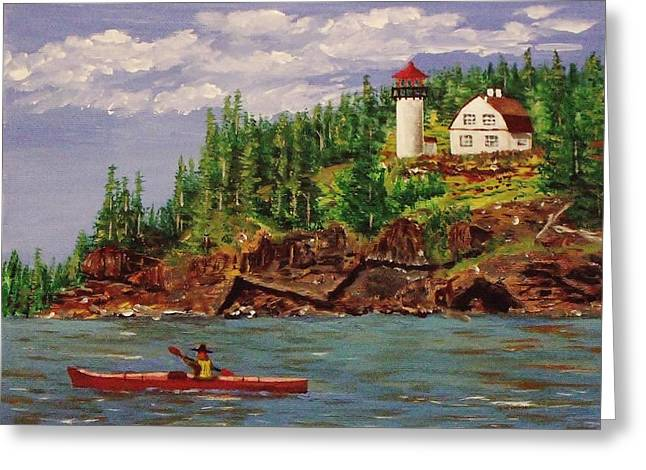 Kayaking The Coast Greeting Card
