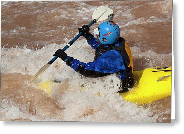 Kayaking The Colorado Greeting Card by Jim West