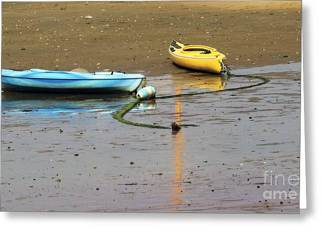 Kayaks-blue And Yellow Greeting Card