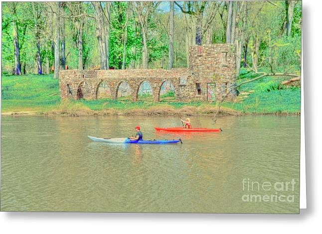 Kayaks Greeting Card by Kathleen Struckle