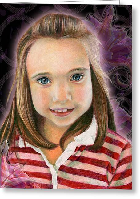 Kaylee Greeting Card by Heather Raven Illingworth