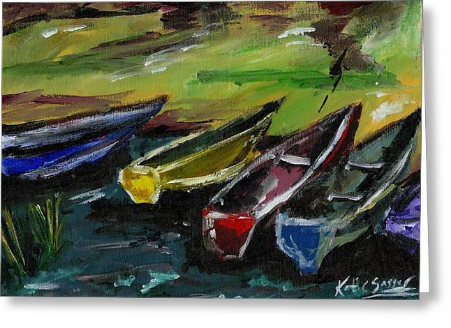 Kazinga Channel Boats Greeting Card