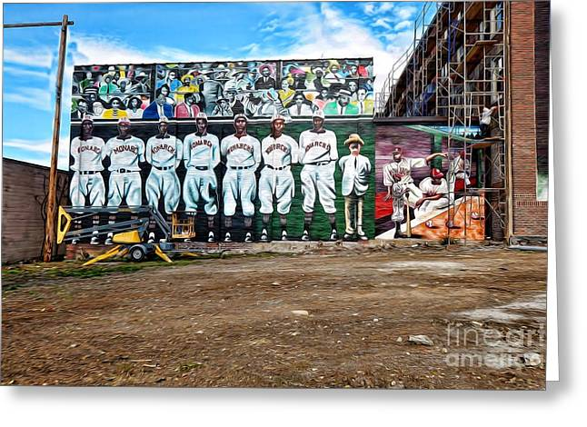 Kc Monarchs - Baseball Greeting Card by Liane Wright