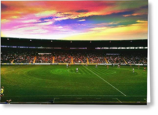 Kc Stadium In Kingston Upon Hull England Greeting Card by Chris Drake