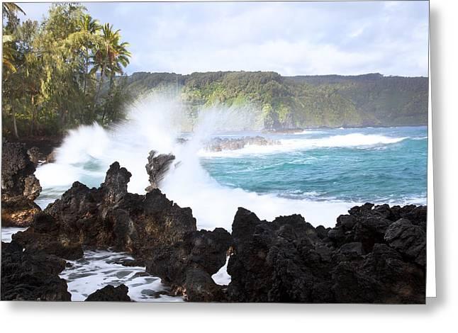 Keanae Lava Rocks Greeting Card by Jenna Szerlag