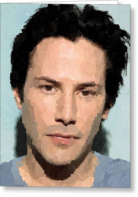 Keanu Reeves Portrait Greeting Card