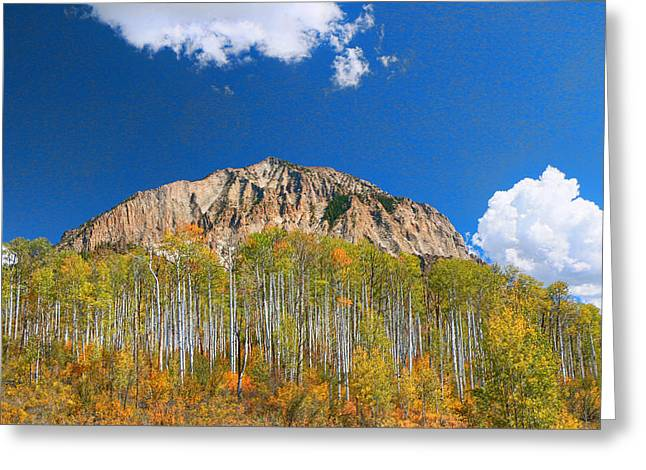 Marcelina Mountain -  Kebler Pass Greeting Card by Allen Beatty