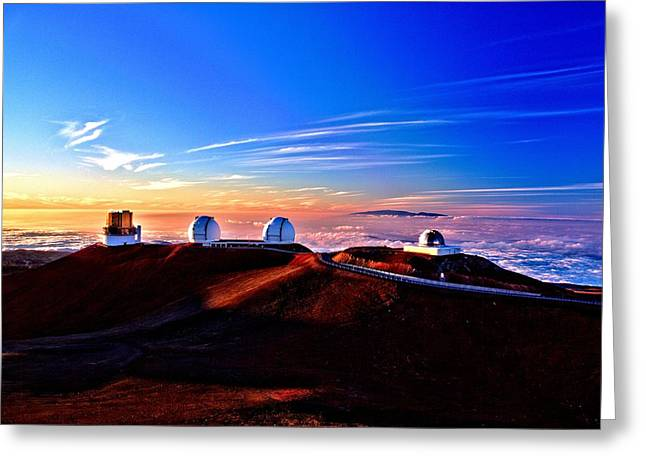 Keck At Sunset Greeting Card by Bob Kinnison