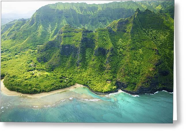 Kee Beach Aerial Greeting Card by Kicka Witte
