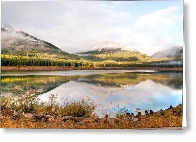 Keechelus Lake Greeting Card by Geraldine Alexander