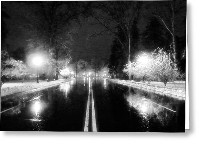 Keeneland Entrance In Black And White Greeting Card by Christopher Hignite