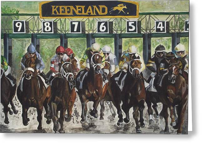 Keeneland Greeting Card by Kim Selig
