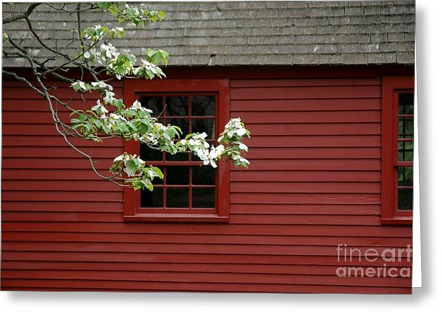 Greeting Card featuring the photograph Keeney School House by Christiane Hellner-OBrien