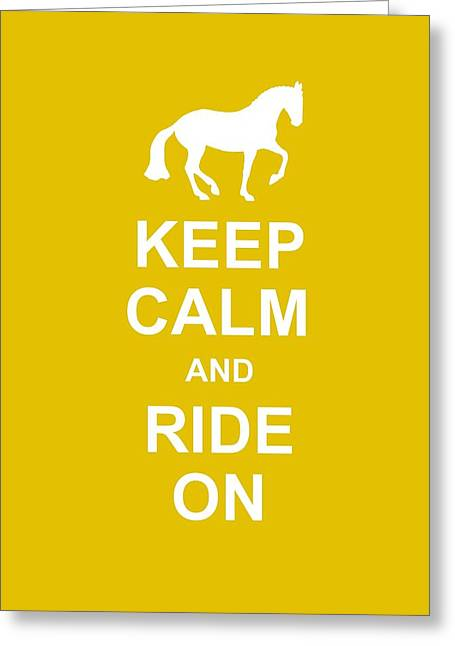 Keep Calm At Grand Prix Greeting Card by JAMART Photography