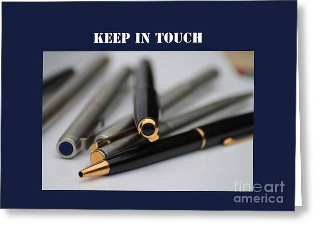 Keep In Touch Greeting Card by Michelle Orai