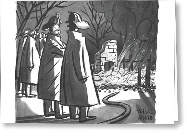 Keep It Under Your Hat Greeting Card by Peter Arno