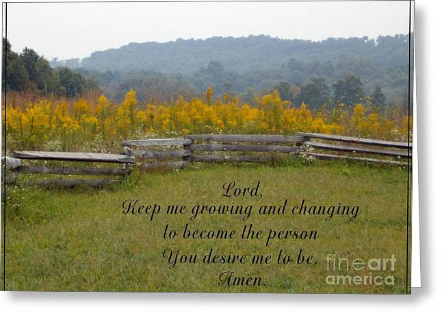 Keep Me Growing Greeting Card
