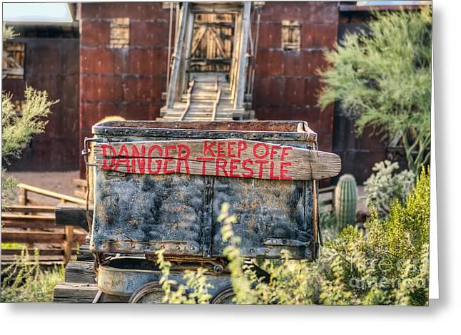 Keep Off Trestle Greeting Card by Eddie Yerkish