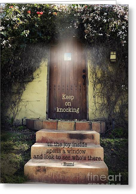 Keep On Knocking Greeting Card by Stella Levi