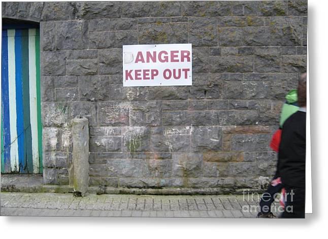 Keep Out Aran Islands Ireland Greeting Card
