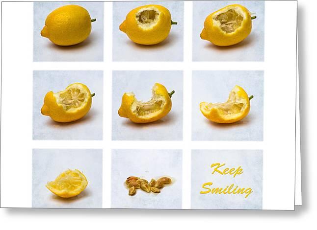 Keep Smiling Greeting Card by Alexander Senin