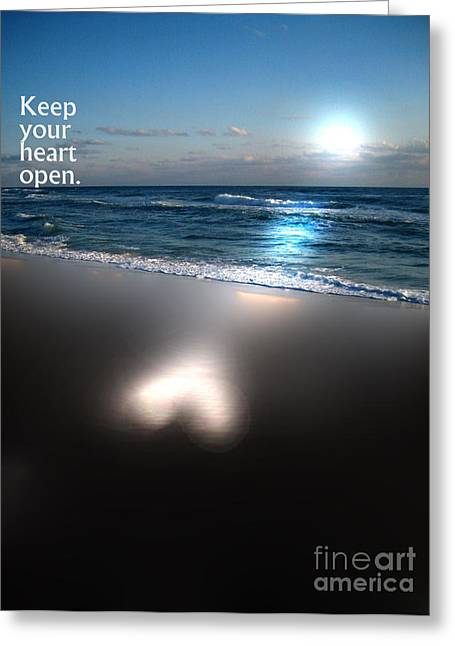 Keep Your Heart Open Greeting Card by Jeffery Fagan