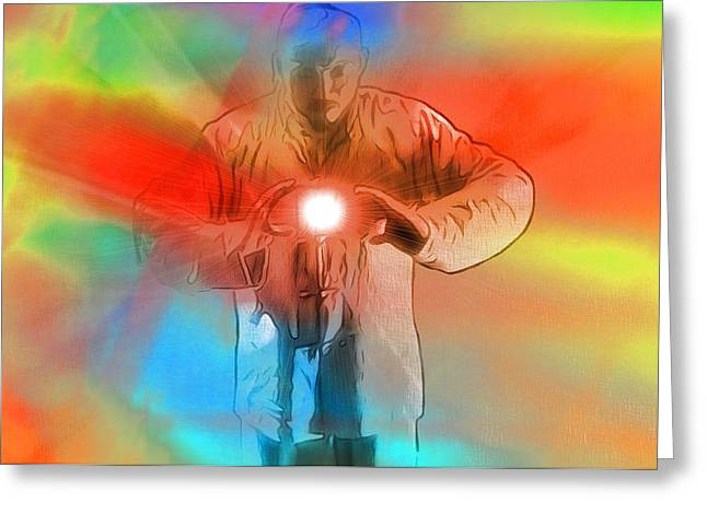 Keeper Of The Light Pop Art Greeting Card by Dan Sproul