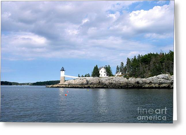 Keeper's House Isle Au Haut Greeting Card by Lisa Schafer