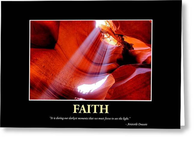 Keeping The Faith Greeting Card by Gregory Ballos