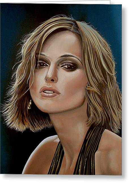Keira Knightley Greeting Card