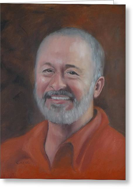 Greeting Card featuring the painting Keith by Carol Berning