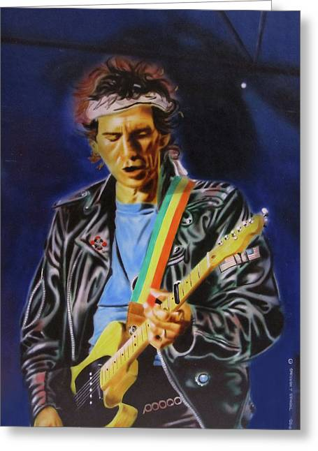 Keith Richards Of Rolling Stones Greeting Card by Thomas J Herring