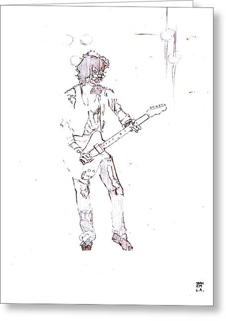 Keith Richards With The New Barbarians Greeting Card