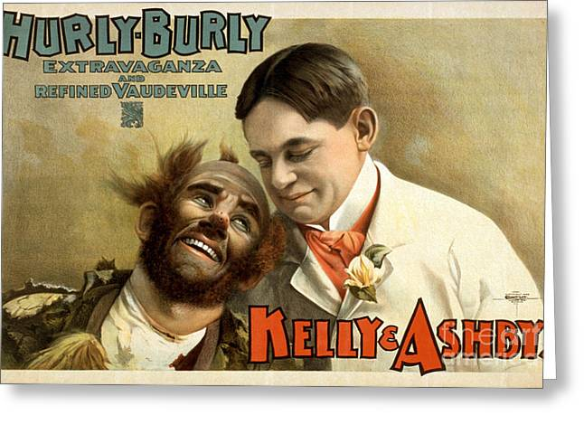 Kelly And Ashy, American Acrobatic Greeting Card