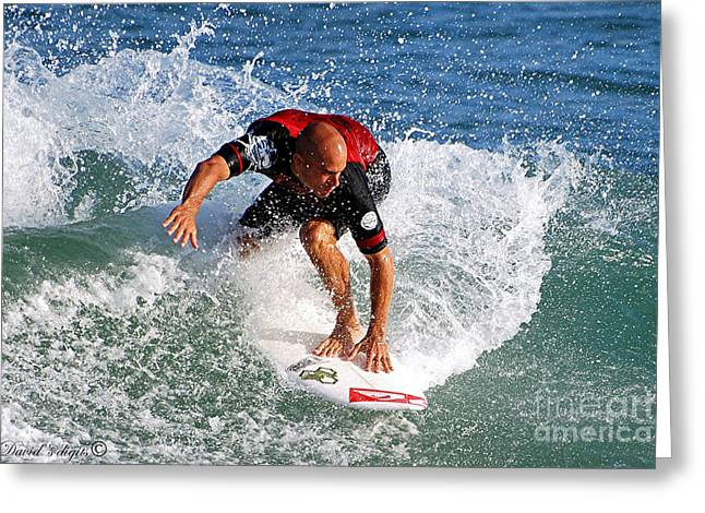 Kelly Slater World Surfing Champion Copy Greeting Card by Davids Digits