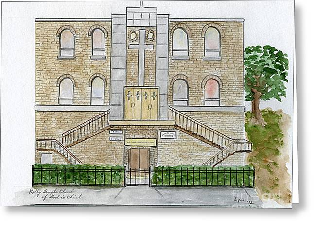 Kelly Temple Church In East Harlem Greeting Card
