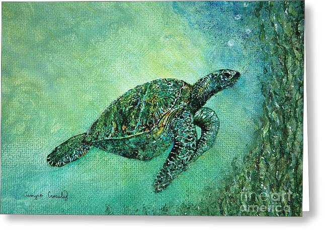 Kelp Forest Sea Turtle Greeting Card