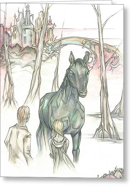 Kelpie Encounter Greeting Card by Danielle Sobol