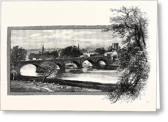 Kelso, With Rennies Bridge. Kelso Is A Town In The Scottish Greeting Card